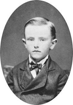 Young Calvin Coolidge.