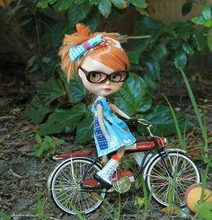 kate on her new bike