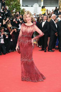 Jane Fonda in Elie Saab