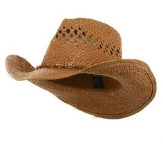 b4a5bf3e9b8 MG Ladies Straw Outback Toyo Cowboy Hat (Brown) at Amazon Women s.