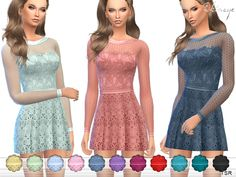 The Sims Resource: Butterfly Dress by ekinege • Sims 4 Downloads