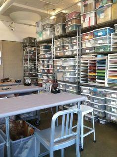 Martha Stewart's craft storage looks like mine!