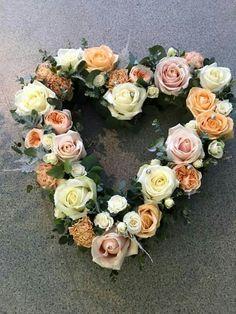 Flower heart wreath
