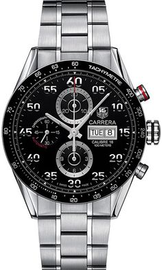 Tag Heuer Carrera Tachymeter Watch  - This watch is to die for! I've always loved how this is sporty and elegant at the same time.