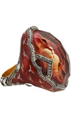 Sevan Bicakci Dove Carved Citrine Ring