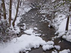 Our creek here in Tennessee after a beautiful snowfall  ~ January, 2010