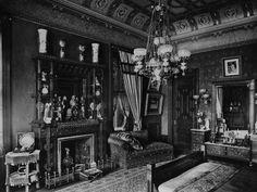 640 Fifth Ave, William H. Vanderbilt Residence c. 1882. Mr. Vanderbilt's Bedroom, entrance to dressing room.
