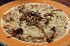 Chanterelle Risotto with White Truffle Salt.
