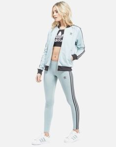 adidas Originals Women Berlin Black White Stripe Block Logo Leggings XS S M
