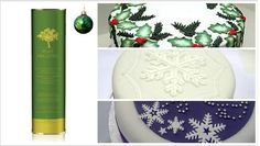 """The """"art decor"""" of Christmas cakes it's a personal matter. The thing that matters for Pure Hellenic Foods is to offer you an authentic and natural olive oil that can ensures delicate taste and nutritiousness for all of your sweet creations. Organic Pure Hellenic Extra Virgin Olive Oil, now available in 1lt can.. for more designs and delight."""
