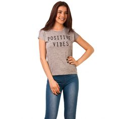 Bluza Dama Positive Vibes Grey Positive Vibes, Accounting, Positivity, Grey, Casual, Gray, Repose Gray, Random, Casual Outfits