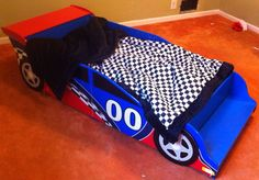 Twin Checkered Race Car Full Bedding. Fitted Sheet 1 Pillow Case, Blanket, And 1…