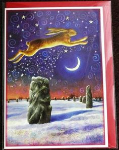 Winter Solstice Magick Yule Greeting Card - Goddess/Hare/Pagan/Wiccan/Christmas | eBay