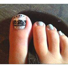 Nails native American silver toenails