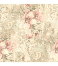 Pergoda Pink Floral Texture Wallpaper
