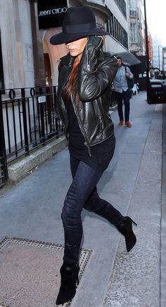 Victoria Beckham's Guide to Wearing All-Black Without Looking Boring via @WhoWhatWearUK