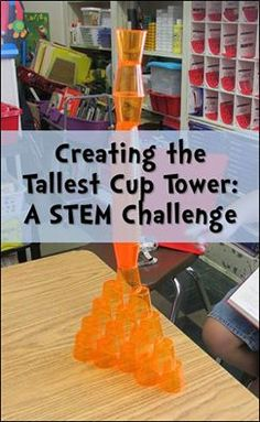 Groups have 30 minutes and 50 cups to create the tallest tower.