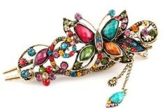 Lovely Vintage Jewelry Crystal Butterfly Hairpins Hair stick- for hair clip Beauty Tools by Yang Jewelry. $4.98