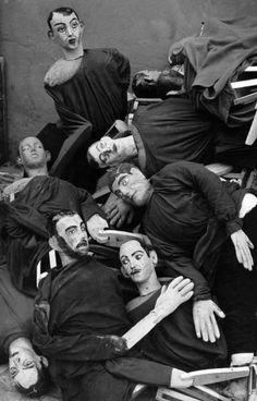 Herbert List • 'Silent Extras'. Cinecitta Rome Italy 1952