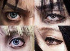 the eyes..