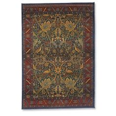 Love these colors! Craftsman Rugs, Craftsman Style, Plastering, Floral Area Rugs, Arts And Crafts Movement, William Morris, Home Crafts, Stencils, Objects