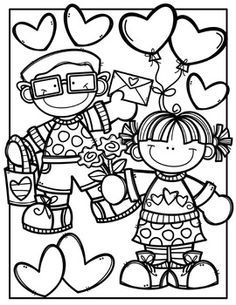 FREE Valentine Coloring Pages {Made by Creative Clips Clipart} FREE Valentine Coloring Book {Made by Creative Clips Clipart} Unique Coloring Pages, Colouring Pages, Coloring Pages For Kids, Coloring Books, Mandala Coloring, Adult Coloring, Valentine Theme, Valentine Day Crafts, Valentines Day Clipart