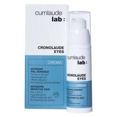 CUMLAUDE Cronolaude Eyes Crema - creme anti-rugas para região dos olhos, com ginkgo biloba, ácido hialurónico, SYN-AKE,   vitaminas B5 e E. Previne bolsas, olheiras e marcas de expressão. Usar 2xs ao dia. Vende online, farmácias da Espanha. Preço Médio: € 20. #cosmeticdetox #antirugas #olheiras #eyes #yeux #eyecream #antiage #crueltyfree #antirides #cumlaudelab