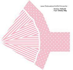 Caixa Pirâmide Dia dos Professores Corujinha Rosa