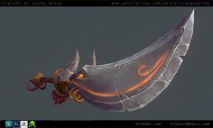 Raging Bull Sword, Anthony Trujillo on ArtStation at https://www.artstation.com/artwork/rvLBa