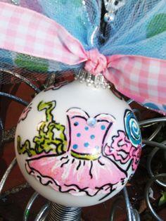 recital gift, dance of the sugarplum fAiRY....dd original handpainted christmas ornament....great for that beautiful ballerina. $22.95, via Etsy.