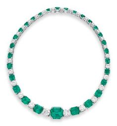 AN EMERALD AND DIAMOND NECKLACE | JEWELRY Auction | necklace, diamond | Christie's