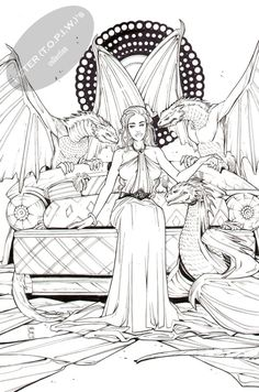 Daenerys Targaryen / Khaleesi  Game of Thrones  commission by Laura Braga Comic Art
