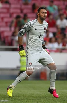 Portugal goalkeeper Rui Patricio in action during the International Friendly match between Portugal and Estonia at Estadio da Luz on June Portugal Fc, Portugal Soccer, Germany Football Team, We Are The Champions, Soccer Stars, European Championships, June 8, Soccer World, Goalkeeper