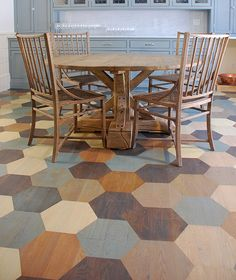Like this!  Monarch Painting | Painted floors works samples and decorating ideas
