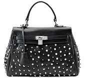 Melrose Glam Kellia Studded Leather Bag Black for only $159
