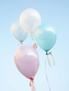 pastel balloons..