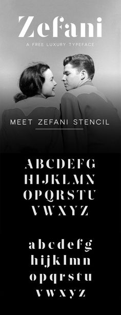 Beautiful free fonts for designers - Zefani Web Design, Website Design Layout, Logo Design, Graphic Design, Wedding Website Examples, Free Fonts For Designers, Online Fonts, Stencil Font, Free Typeface