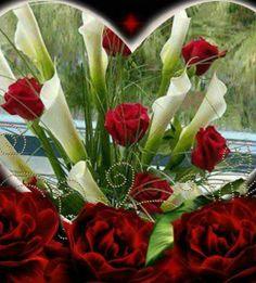 Rosas con gladiolo
