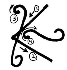 """Reiki Symbols. Shanti means """"peace."""" Shanti helps heal the past and make way for the present. We can use Shanti to send peace to the past, free our attachments and heal. It releases fear, anger, hurt while soothing our auras."""