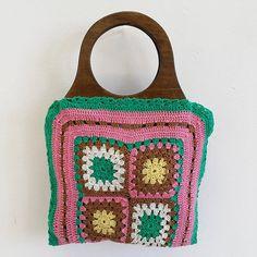 ZStitch, Vintage inspired handmade handbags in Woodstock Retro Fabric, Handmade Handbags, Fabric Bags, Woodstock, Straw Bag, Vintage Inspired, Range, Inspiration, Fashion
