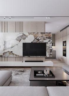 Design Hall, Tv Wall Design, House Design, Living Room Tv Unit Designs, Interior Design Living Room, Tv Unit Interior Design, Home Living Room, Living Room Decor, Modern Tv Room