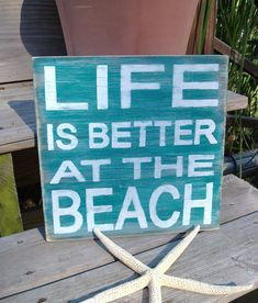 Beach Sign Shabby Beach Cottage Coastal and Nautical Decor