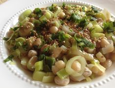 Leek with Dried Beans - Salat Ideen Turkish Recipes, Ethnic Recipes, Cooking Recipes, Healthy Recipes, Dried Beans, Beans Beans, Healthy Sides, Pasta Salad, Salad Recipes