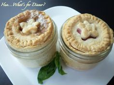 Pie in a Jar.  You can make ahead and freeze.  When you want pie take from freezer and bake