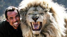 The Lion Whisperer: Kevin Richardson with one of his male lions in South Africa. The zoologist has reared 27 lions by hand and is treated as one of the pack. Photo: lionwhisperer.co.za Source: Supplied