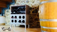 Modular wine racks design by Cool Art
