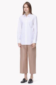 Wool silk blend wide crop pants