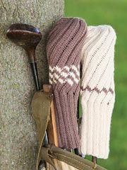 Knit Spiral Rib Golf Club Cover