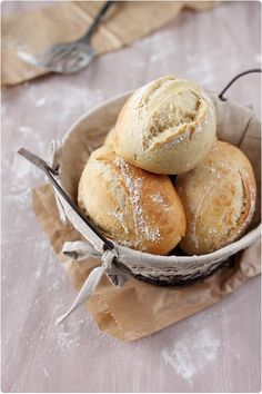 Petits pains à sandwichs; une recette de chefnini