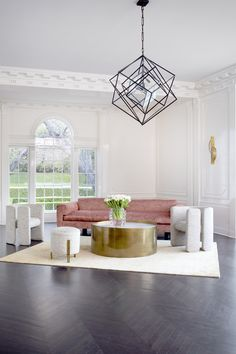 I could sit here. Living Room Decor, Living Spaces, Living Rooms, Mid Century Modern Design, Fashion Room, Luxury Furniture, Furniture Design, Inspired Homes, Interior Design Inspiration